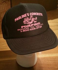 ab13cd526e9 PAULINE S CONCRETE PUMPING BOOMS TO 140 FT. SNAPBACK CAP Trucker fishing Hat  New  nissun  Trucker