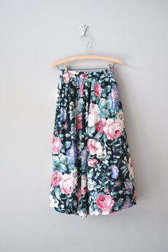 vintage floral midi skirt--I love this!!!