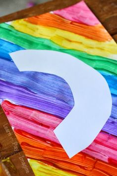 How to make beautiful rainbow resist art for kids