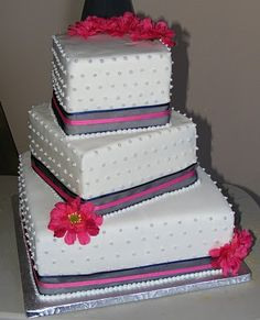3 Tier Wedding Cakes | this 3 tier wedding cake was all chocolate with butter cream filling i ...