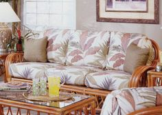 Antigua Wicker/Rattan Sleeper Sofa | South Sea Rattan | Home Gallery Stores - Liked @ www.homescapes-sd.com #staging San Diego home stager (760) 224-5025