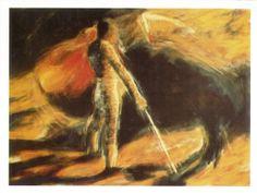 El pintor conquense Emilio Morales expone en la Sala Granero Cuenca Junio 1987 #SalaGranero #Cuenca #EmilioMorales