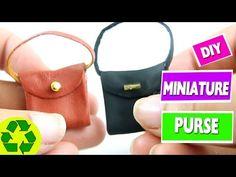 5 minute crafts - DIY Miniature Realistic Doll Handbag - YouTube