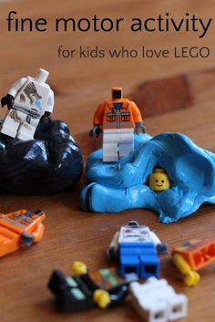 LEGO activity to build fine motor skills - fun way to get kids who don't want to do OT or therapy to work their fine muscles.