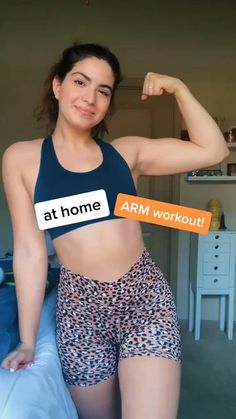 Skinny Arms Workout, Arm Day Workout, Arm Workout Videos, 7 Day Workout Plan, Arm Workouts At Home, At Home Workouts For Women, Workout Plan For Beginners, Month Workout, Gym Workout Tips