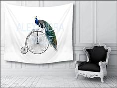Peacock Wall hanging Peacock Bike Vintage Bicycle Wall