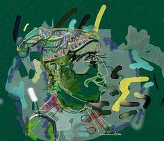 "VictorShmokhin ""Клоун в профиль"".2010г бумага/компьютерное. искусство. 40х43. (#3.977)."