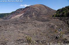 Big Island, Hawaii in a volcano crater