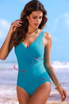 3d48d5d73ff Hualong Sexy Light Blue V Neck One Piece Womens Plus Size Swimsuits  Brazilian Bikini Swimwear,. Online Store for ...