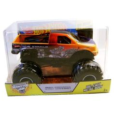 """Hot Wheels Year 2014 Monster Jam 1:24 Scale Die Cast Official Monster Truck - IRON WARRIOR (BGH44) with Monster Tires, Working Suspension and 4 Wheel Steering (Dimension - 7"""" L x 5-1/2"""" W x 4-1/2"""" H), http://www.amazon.com/dp/B00IIAR97Q/ref=cm_sw_r_pi_awdm_s1Mqtb0ZDQ6TC"""
