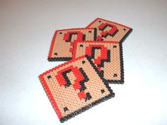 Perler Bead Coasters - QUESTION BOX  Idea - Make a second coaster for flip side, what is in box.
