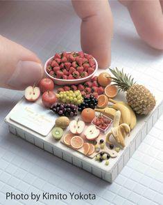 Miniature Crafts, Miniature Food, Miniature Dolls, Tiny Food, Fake Food, Polymer Clay Miniatures, Polymer Clay Crafts, Diy Dollhouse, Dollhouse Miniatures