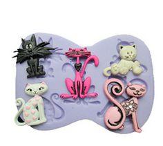 Silicone Fondant Mould Chocolate Cake Decorating Craft Garfield Halloween NEW