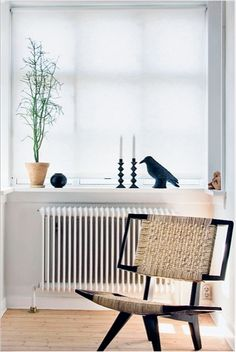 I don't actually want to have to use a radiator for heat but I think they add a cute industrial chic look