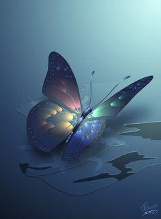♥♥ winterbliss butterfly by nevs28.deviantart.com on @DeviantArt