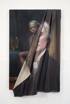 """neg-mawon: """" aadatart: """" MUST-READ: Titus Kaphar Talks Criminal Justice, His TIME Painting, and First Show at Jack Shainman Titus Kaphar is having a big year. The artist, who splits his time between. African American Art, American Artists, African Art, Phineas E Ferb, Arte Black, Creation Art, Time Painting, Photocollage, National Portrait Gallery"""