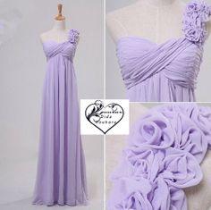Lavender Chiffon Bridesmaid Dress Long Bridesmaids by DidoCouture, $89.00