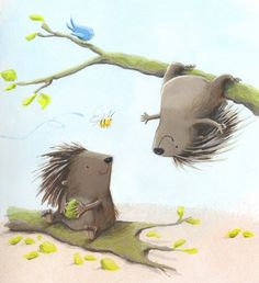Alison Brown Illustration - alison brown, paint, painted, acrylic, commercial, trade, picture book, picturebook, novelty, animals, hedgehogs
