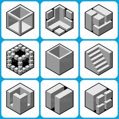 Abstract Cube Icons Set 2 by Vector Abstract Cube Icons Set 2 Pack include:EPS PSD,(layered,RGB), AI, Please rate this file if y Vector Design, Vector Art, Image Vector, Cube Design, Flat Design, Design Design, 3d Drawings, Hexagon Shape, Icon Set