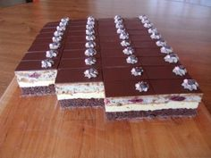 Cake Recipes, Dessert Recipes, Czech Recipes, Cake Bars, Chocolate Cherry, Cheesecake Brownies, Pavlova, Cake Cookies, Nutella
