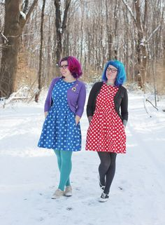 These ladies have the best style, I want both of these dresses!