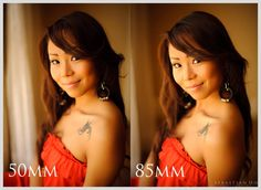 """50vs85 The portrait lens: 50mm vs 85mm. """"I follow a simple guideline when making portraits. 200mm for face only, 135mm for entire head, 85mm for head and shoulders, 50mm for upper body, and 35mm for full length."""""""