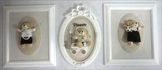 Conjunto de quadros composto por dois quadros retangulares medindo 30x25cm e um oval medindo 32x24cm.  Tecidos na cor e na estampa que você preferir. Os quadros podem ser vendidos separadamente. PRODUTO ARTESANAL SUJEITO À VARIAÇÕES R$ 600,00