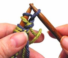 Double Knitting.  Tutorial covering the cast on and bind off with one or both yarns.