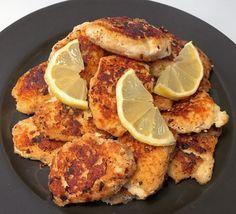 Nemme fiskefrikadeller med citronmåner - Uden mel og gluten