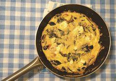 receita | frittata de queijo de cabra, tomates e cogumelos