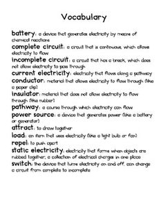 FREE - Electrical Circuits Notes | Grade 6 Science | Pinterest | Note
