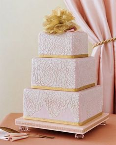 50th Wedding Anniversary Sheet Cakes | ... Tasty Delights: Blush & Champagne Inspired Wedding Cakes & Confections