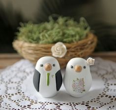 Love Bird Wedding Cake Topper