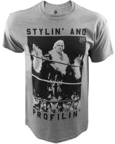 Officially Licensed WWE Nature Boy Ric Flair Stylin' and Profilin' Grey T-Shirt