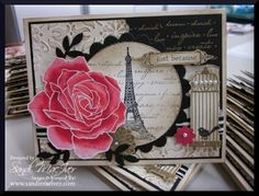 The rose is from Fifth Avenue Floral, some Artistic Etchings and Aviary Stamp Sets too.