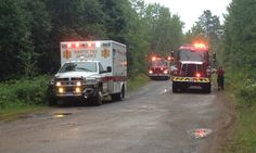 Firefighters battle cabin fire in Forsyth Township