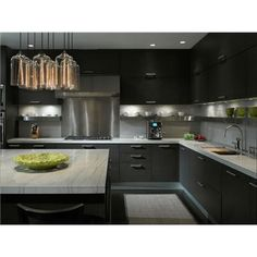 Dark Contemporary Kitchen by Gary Lee