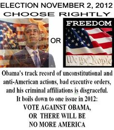 CHOOSE FREEDOM 2012 It couldn't be any plainer than that.