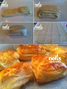 Ev Yapımı Milföy Börek ( Sarıyer Böreği) Paratha Bread, Apple Tart Recipe, Turkish Kitchen, Turkish Cuisine, Tart Recipes, Appetizer Recipes, Bread Recipes, Iftar, Queso Crema