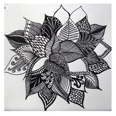 ABSTRACT FLOWER DRAWING'