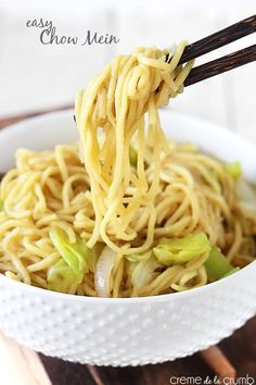An easy and delicious 20-minute version of classic restaurant style chow mein!