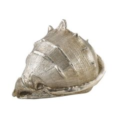 Shell sculpture with silver finish.