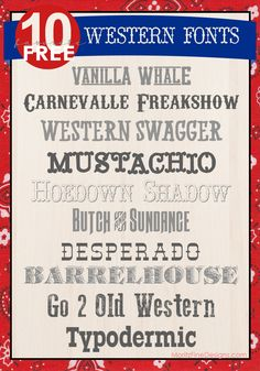 Throwing a Western Party of some sort? You'll love these Awesome Free Western Fonts to use on your Western Invitation, Western Party Decor and more!