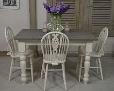 Rustic Shabby Chic Dining Table With 8 By TheTreasureTroveUK Part 93