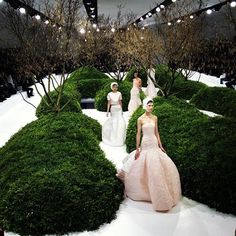 Green Maze Garden @Dior Christian Dior Spring Summer Couture 2013 #Fashion
