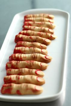 Zombie Finger Cookies | Or perhaps more Macabre...Lady Fingers..? ;-)