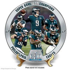 Eagles Super Bowl LII Champions Porcelain Collector Plate: 1 of 10000