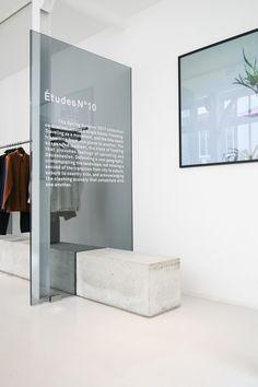 Debelleyme About Études Studio Showroom Design, Cafe Design, Store Design, Commercial Design, Commercial Interiors, Retail Interior, Interior And Exterior, Modern Interior Design, Interior Architecture