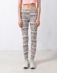 PRINTED LEGGINGS - Trousers and shorts - WOMAN - United Kingdom