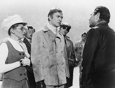 Sixties   Margaret Blye, Benny Hill, Michael Caine, Michael Standing and Raf Vallone in The Italian Job, 1969
